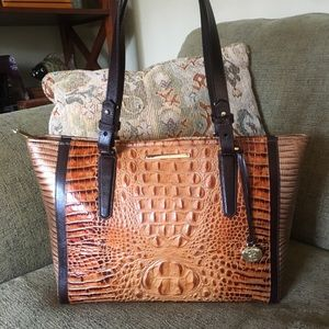 NWT Brahmin Med Arno Toasted Almond Bengal Tote